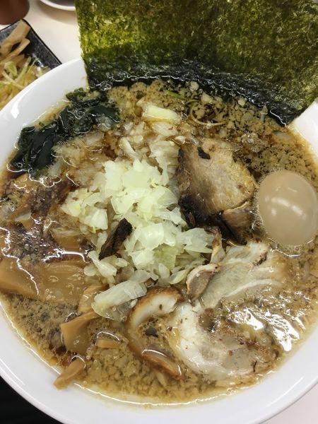 「ラーメン 大 タマネギ 味タマ」@三五八式の写真