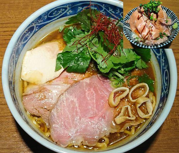 「【限定】味噌ら~めん¥780+チャーシュー丼¥430」@寿製麺よしかわ 川越店の写真