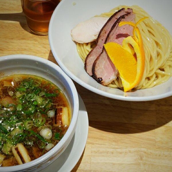 「【平日限定】鴨ネギつけ麺(大盛) 1100円」@ふる川の写真