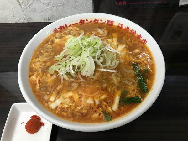 「カレータンタン麺+チーズ」@元祖カレータンタン麺 征虎 総本店の写真