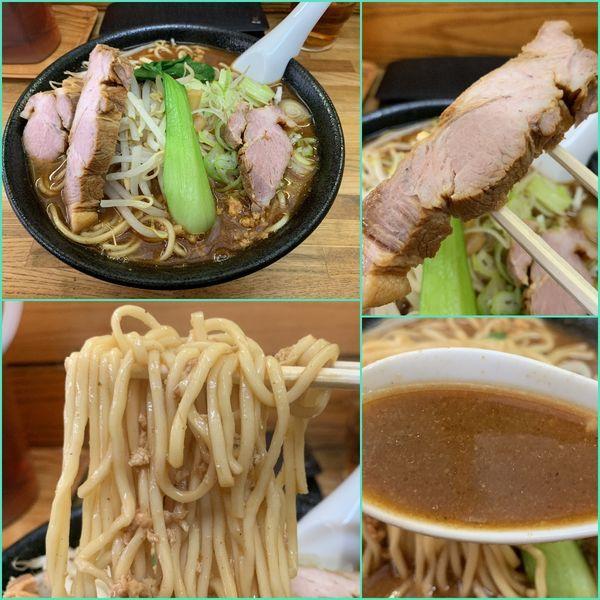 「味噌らー麺(中盛・麺カタメ)¥750」@はじめの写真