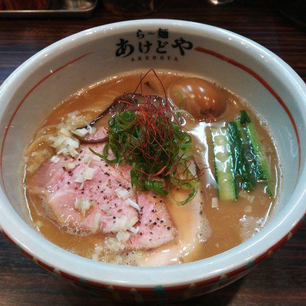 「【限定】ちょっぴり濃厚鯛白湯ら~麺」@らー麺 あけどやの写真