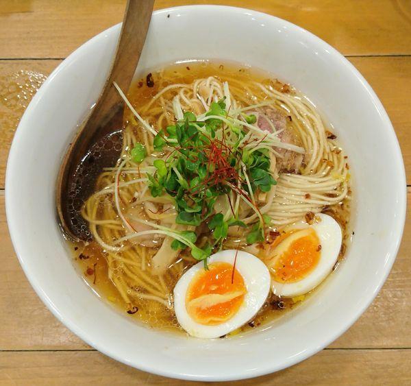 「醤油SOBA+塩味玉」@麺屋 Hulu-luの写真