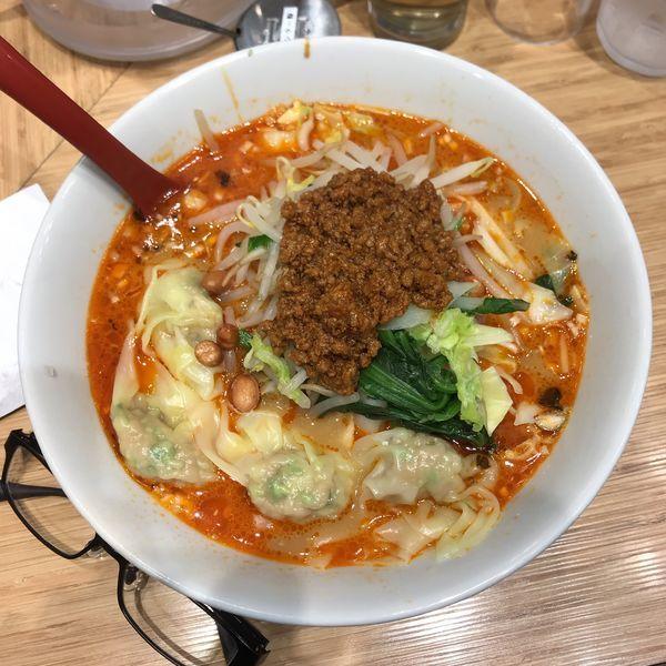 「野菜わんたん麺(四川担々味)」@雲呑好 ecute立川店の写真
