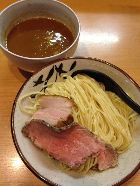 「【限定】中濃鶏豚骨煮干つけ麺 900円」@常勝軒 本庄店の写真
