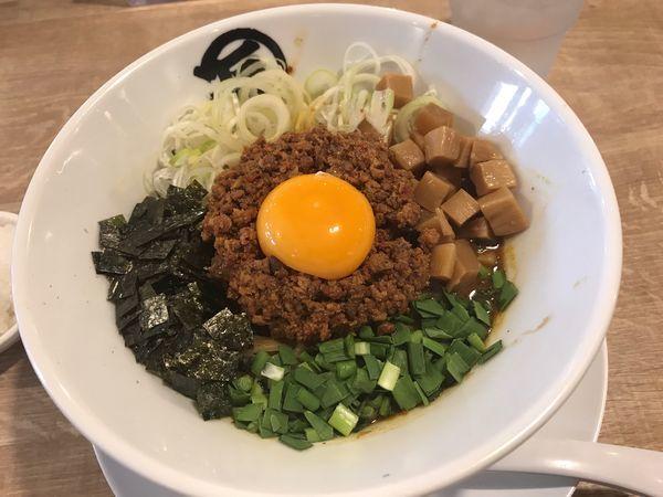 「台湾カレーまぜそば」@麺や マルショウ 新大阪店の写真
