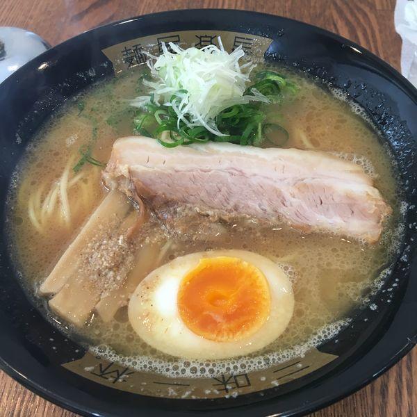 「だし豚骨ラーメン 替え玉」@麺屋楽長。の写真