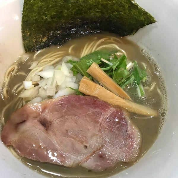 「らーめん(750円)+辛い味付き替え玉(350円)」@いのうえの写真