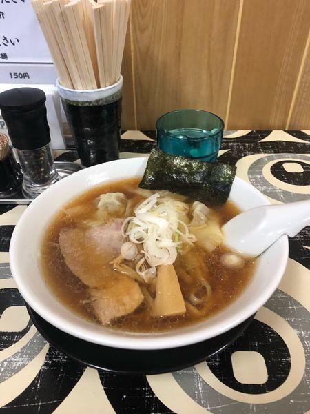 「ワンタンメン750円」@寺カフェ 中華そば水加美の写真