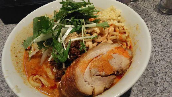 「担々麺 + 豚1枚」@ラーメン宮郎の写真