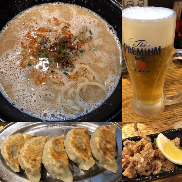「担々めん+餃子+いろいろ」@麺屋 華道の写真