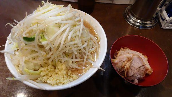 「塩らーめん(850円)ニンニク野菜」@麺屋 歩夢の写真