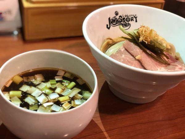 「椎茸だしの醤油つけ蕎麦〜帆立昆布水の浸し麺〜」@らーめんstyle Junk Storyの写真