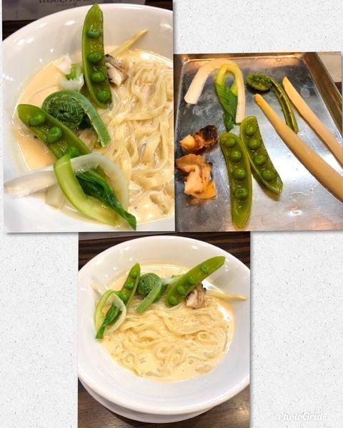 「限定・4種の貝のマリニエール 季節のレギューム¥900」@稲荷屋の写真