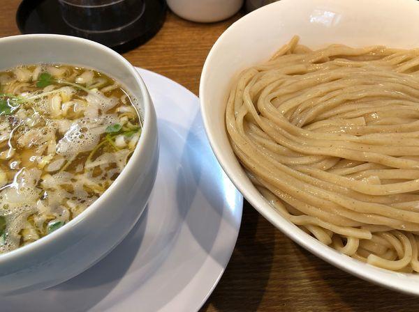 「鶏清湯塩つけ麺」@中華そば 桐麺の写真
