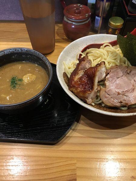 「特製カシューつけ麵+水餃子」@中華蕎麦 つけ麺 五味五香の写真