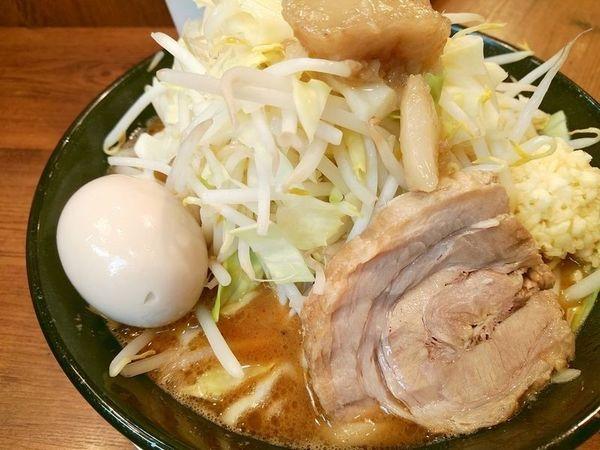 「味噌ラーメン+味玉(ヤサイニンニクアブラ)」@ジャンクガレッジ 森下店の写真
