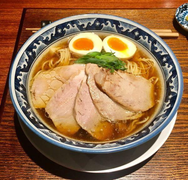 「鶏醤油チャーシュー  980円+味玉 100円」@麺処 山一の写真