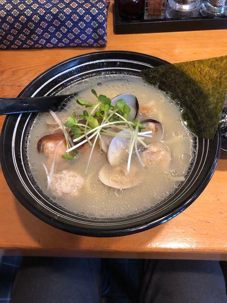 「季節限定麺(貝)」@鮮魚鶏出汁麺 沢むらの写真
