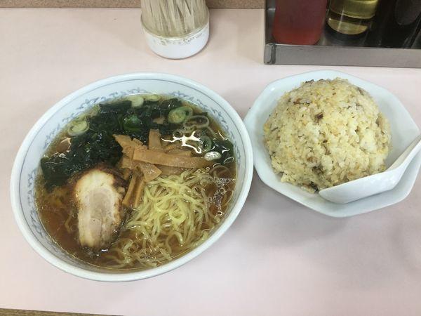 「ラーメン+セットチャーハン(¥670)」@山田屋の写真