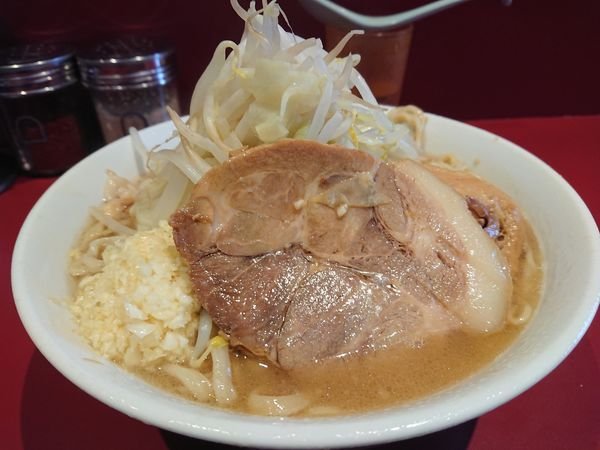 「小ラーメン700円(ニンニク・アブラ)」@ラーメン二郎 荻窪店の写真