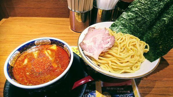 「辛い濃厚つけ麺・2辛(激辛)+海苔」@NIBOSHI TSUKEMEN 凪 新宿ゴールデン街店新館の写真