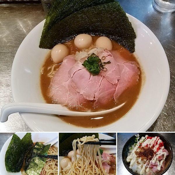 「濃厚煮干+さんじ玉SP(お好み焼き)=1250円」@さんじの写真