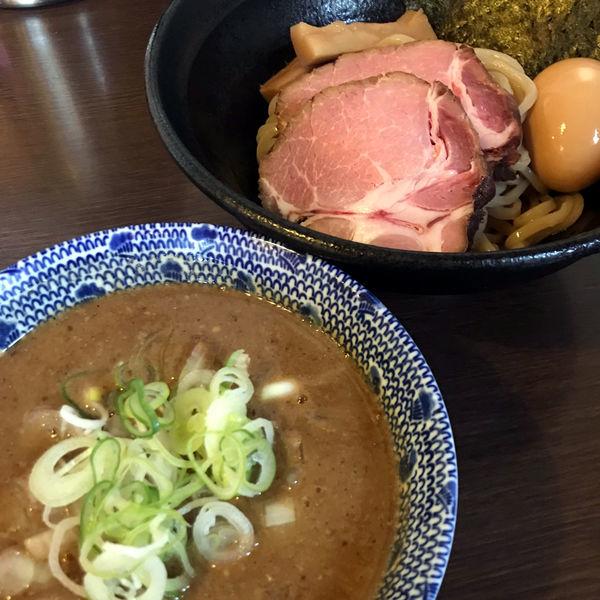 「つけ麺(麺少なめ)800円」@つけ麺 弥七の写真