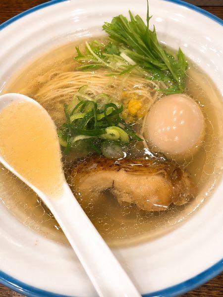 「味玉潮そば ¥850」@鶏そば 志いなの写真