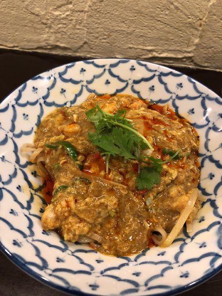「【ゲリラ限定】海老出汁カレーまぜそば」@づゅる麺 池田の写真