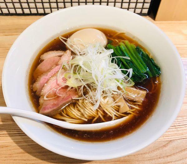 「【限定】鴨中華蕎麦(¥850)+味玉(¥100)」@らーめん 改の写真