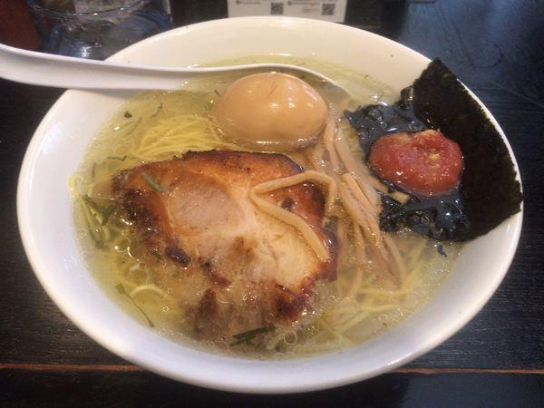 「梅塩そば+半熟味玉:1,000円」@塩そば専門店 桑ばらの写真