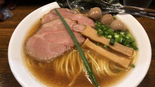 「蟹醤油らぁ麺 麺160g 850円」@Soupmenの写真