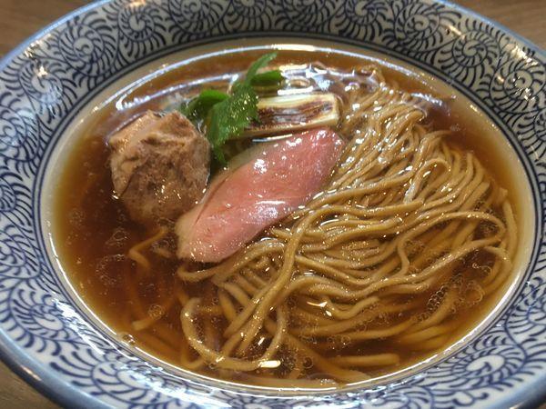 「【限定】鴨duckそば」@煮干しつけ麺 宮元の写真