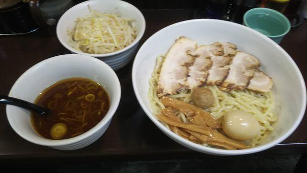 「チャーシューつけ麺大盛 もやし・味玉トッピング」@裏 我馬らーめんの写真