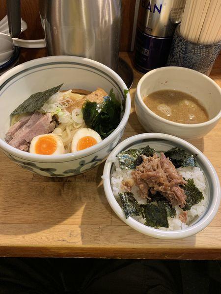 「つけ麺味玉チャーシューご飯」@こうかいぼうの写真