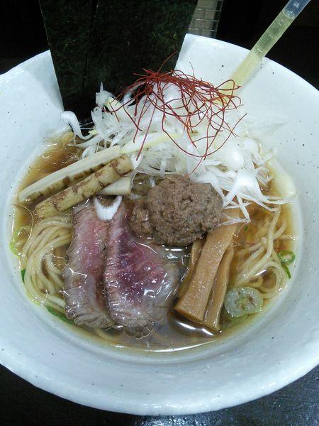 「【限定】牛骨そば 950円」@麺や 魁星の写真