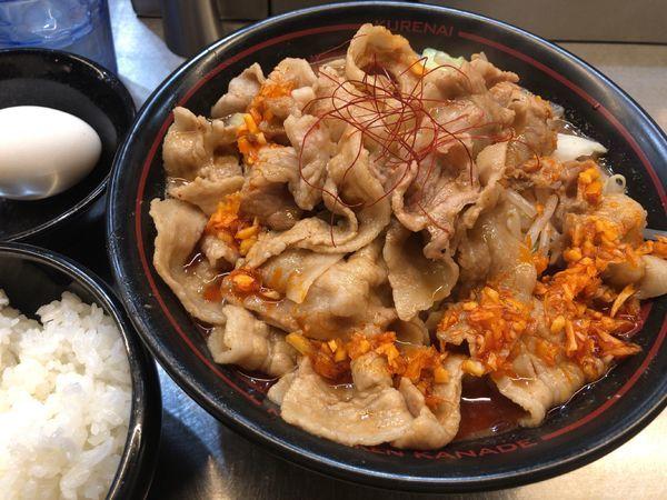 「紅がっつりセット + バラ肉増し」@麺創研 紅 国分寺の写真