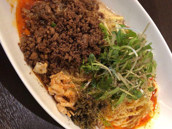 「つゆ無し坦々麺」@四川担担麺 阿吽 湯島店の写真