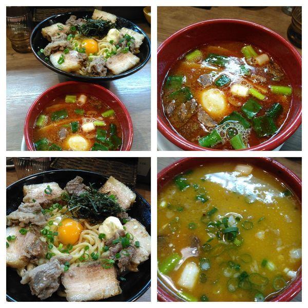 「辛味噌まぜつけ麺」@麺家 Shumen Doushiの写真