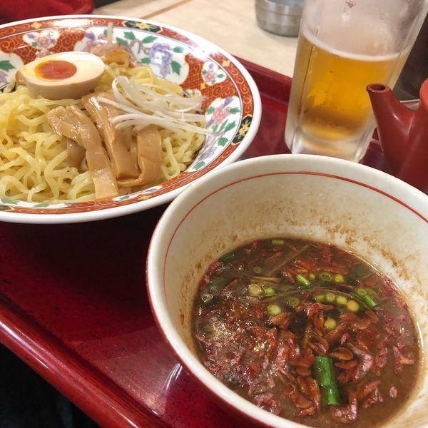 「海老つけ麺 ¥600」@中華食堂 一番館 渋谷桜丘町店の写真