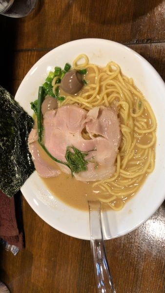 「鯛醤油らぁ麺 麺160g 650円 鯛茶漬けごはん100円」@Soupmenの写真