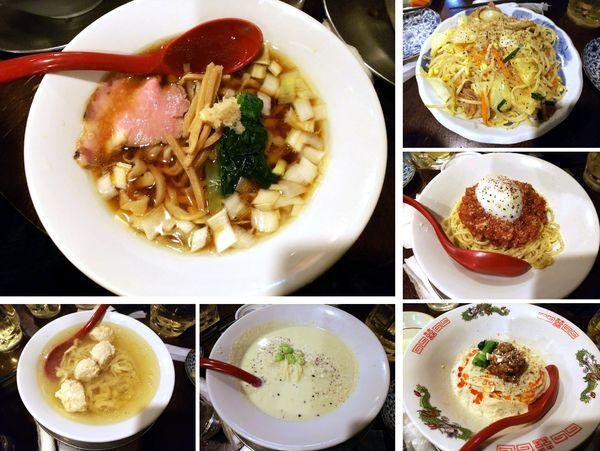 「豚清湯そば+ラーメン5種(シェア)」@立ち呑み居酒屋 金町製麺の写真