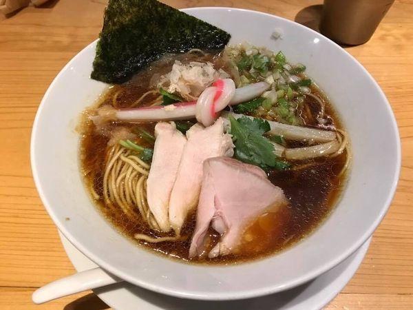 「鶏SOBA」@Ginza Noodles むぎとオリーブの写真
