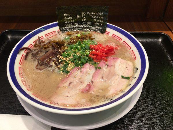 「らーめん¥820」@博多長浜らーめん 田中商店 ダイバーシティ東京プラザ店の写真