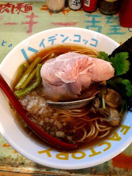 「魚貝煮干し中華そば750円」@つけ麺屋 丸孫商店の写真