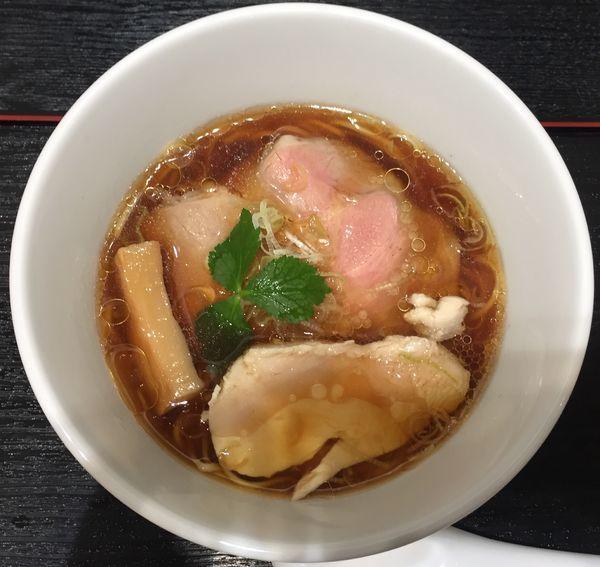 「鶏醤油らぁ麺900円」@らぁ麺とうひち 新宿高島屋京都美味コレクションの写真