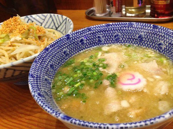 「ガーリック塩つけ麺」@麺や百日紅の写真