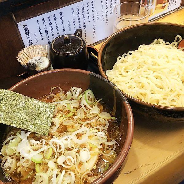 「【夏季限定】冷しスープつけ麺(小・醤油)+ネギ」@竹屋 田無店の写真