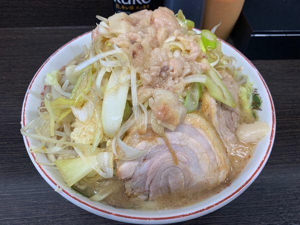 「小ラーメン ネギ(麺少なめ・ニンニク・アブラ)」@ラーメン二郎 川越店の写真